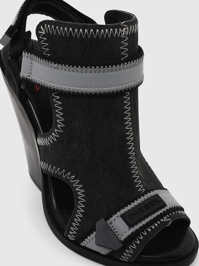 Diesel - SA-FLAMINGO HS, Black/Grey - Sandals - Image 4