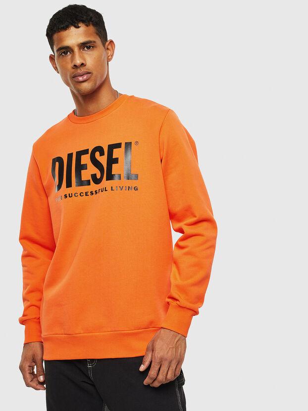 S-GIR-DIVISION-LOGO, Orange - Sweatshirts