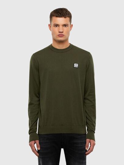 Diesel - K-FREEX-B, Military Green - Sweaters - Image 1