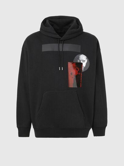Diesel - S-HENON, Black - Sweatshirts - Image 1