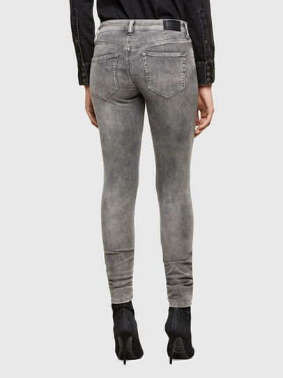 Diesel - Slandy Skinny Jeans 069RS, Black/Dark Grey - Jeans - Image 2