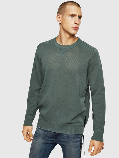 Diesel - K-RIO, Olive Green - Sweaters - Image 1