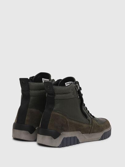 Diesel - S-RUA MID, Dark Green - Sneakers - Image 3