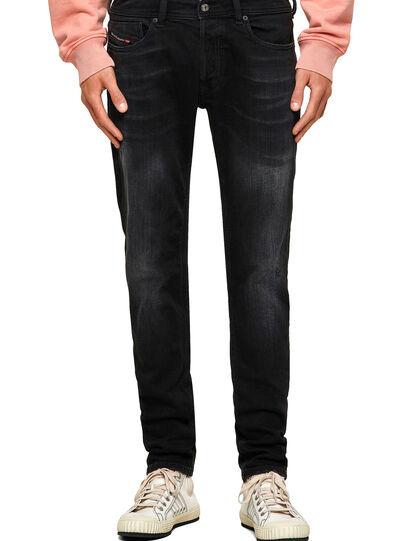 Diesel - Sleenker Skinny Jeans 0092B, Black/Dark Grey - Jeans - Image 1