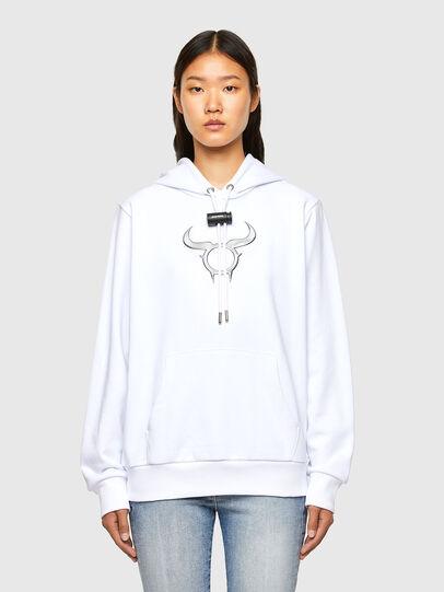 Diesel - CL-S-GIRK-HOOD-O, White - Sweatshirts - Image 2
