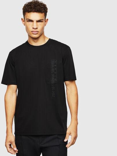 Diesel - T-JUST-POCKET-J1, Black - T-Shirts - Image 1