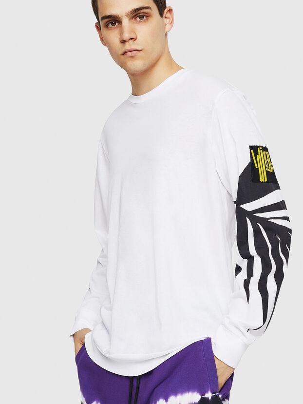 T-JUST-LS-RIB, White - T-Shirts