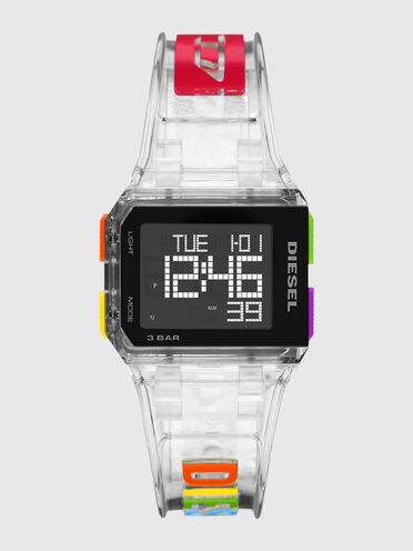 Limited-edition Chopped digital transparent watch
