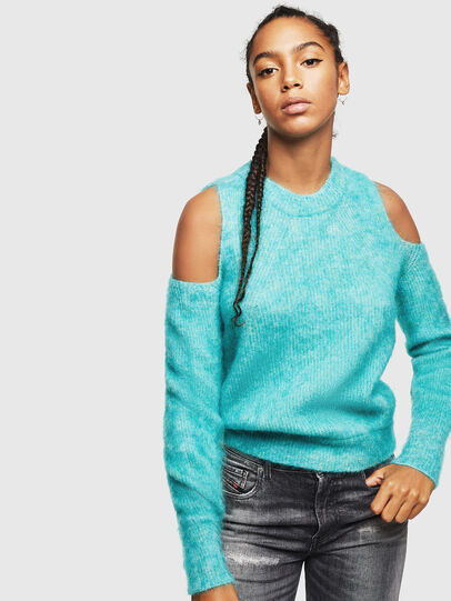 Diesel - M-LARA, Azure - Sweaters - Image 1