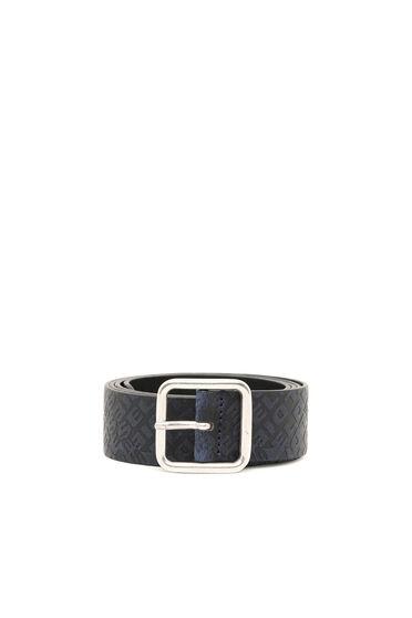 Belt in logo-embossed leather
