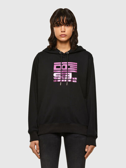 Diesel - F-ANG-HOOD-K23, Black - Sweatshirts - Image 1