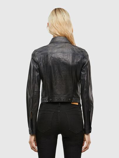 Diesel - L-SHAE, Black - Leather jackets - Image 2