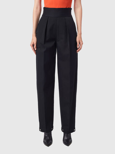 Trousers in compact wool