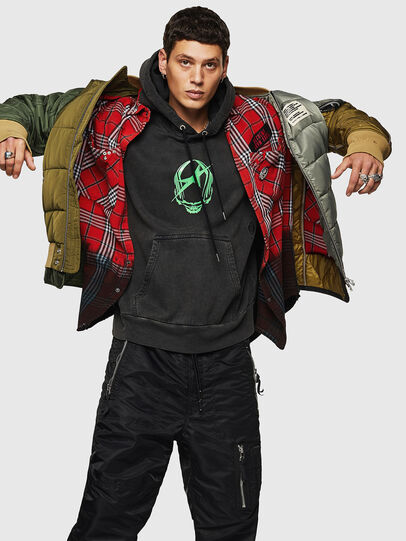 Diesel - W-KOSLOV, Military Green - Winter Jackets - Image 4