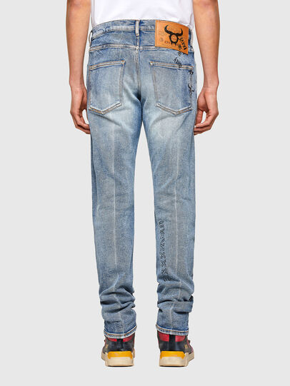 Diesel - D-Kras Slim Jeans 009VW, Light Blue - Jeans - Image 2