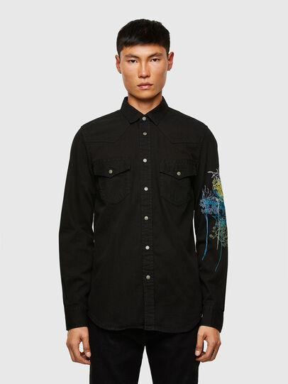 Diesel - D-EAST-P1-SP, Black - Denim Shirts - Image 1