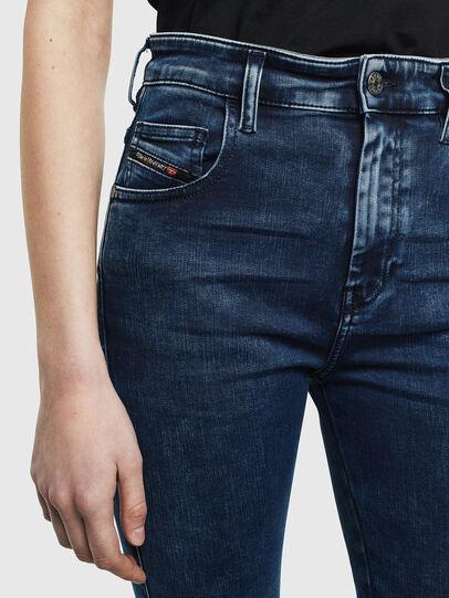 Diesel - Slandy High Skinny Jeans 0094Z, Dark Blue - Jeans - Image 3