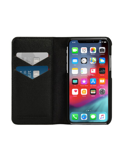 Diesel - DIESEL 2-IN-1 FOLIO CASE FOR IPHONE XS & IPHONE X, Black - Flip covers - Image 7