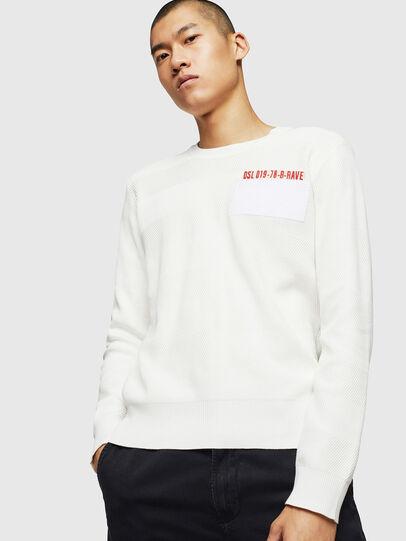 Diesel - K-STLE, White - Sweaters - Image 1