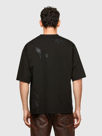 Diesel - T-DELPHI-SLITS-A1, Black - T-Shirts - Image 6