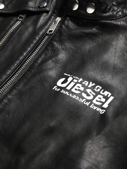 Diesel - US-L-CODY, Black - Leather jackets - Image 3