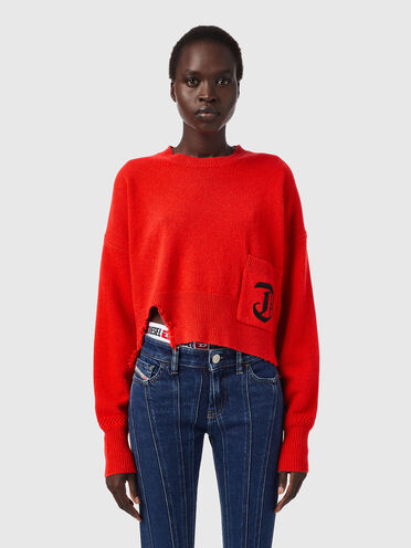 Green Label cropped pullover