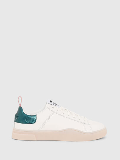 Diesel - S-CLEVER LOW LACE W, White/Green - Sneakers - Image 1