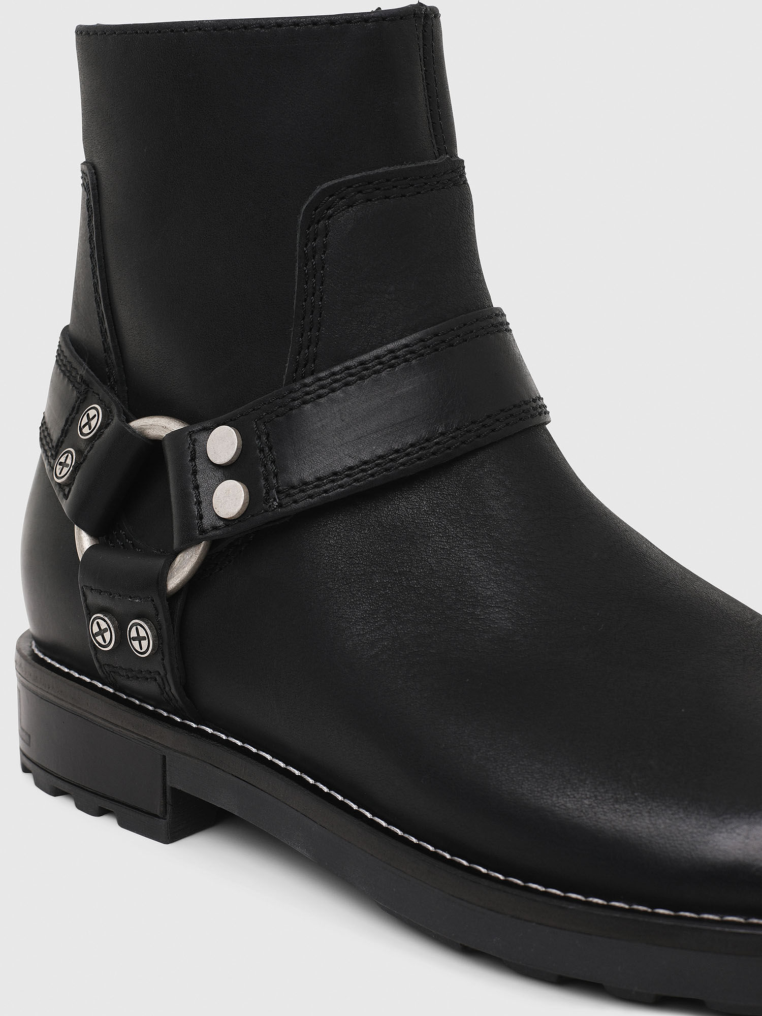 Men: Ankle boots with harness ring   Diesel
