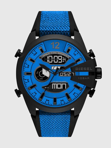 Mega Chief analog-digital blue nylon and silicone watch
