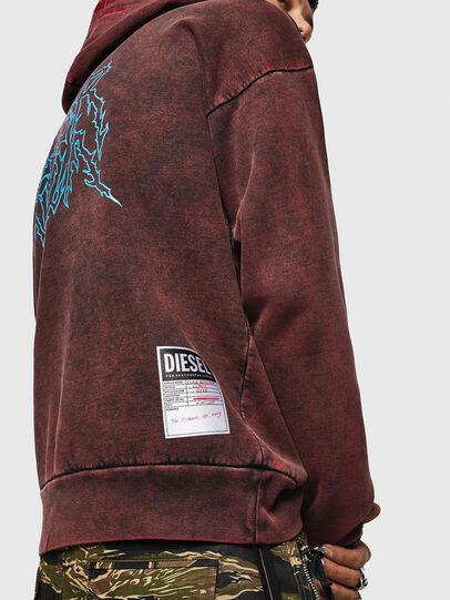 Diesel - S-ALBY-ACID, Bordeaux - Sweatshirts - Image 7