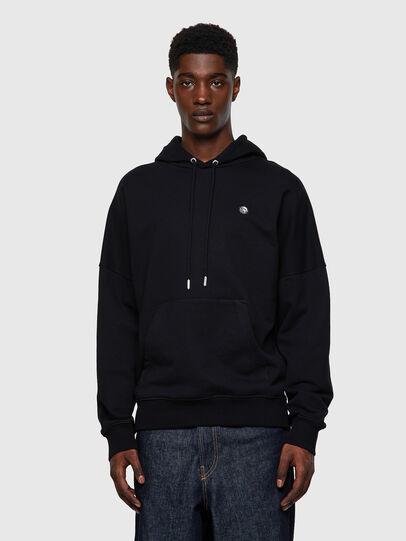 Diesel - S-KRIB-HOOD-ROMOHI, Black - Sweatshirts - Image 1