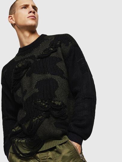 Diesel - K-MUSCHIO, Black - Sweaters - Image 4