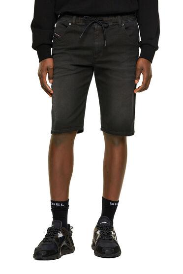 Slim shorts in dyed JoggJeans®