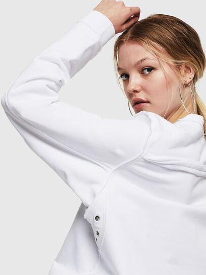 Diesel - F-LYANY-F, White - Sweatshirts - Image 3