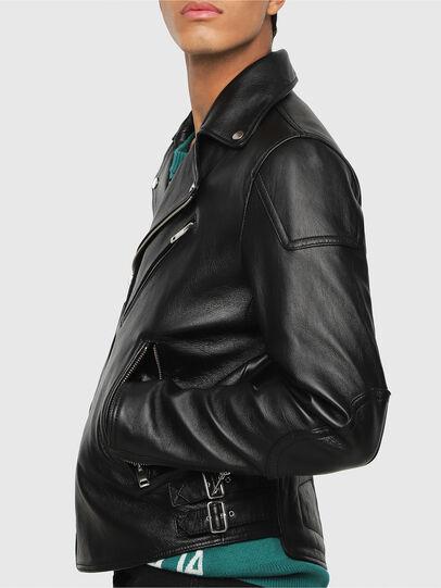 Diesel - L-KRAMPIS, Black Leather - Leather jackets - Image 4