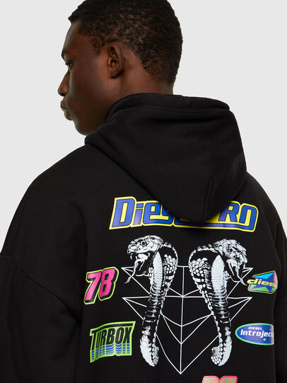 Diesel - S-UMMER-E4, Black - Sweatshirts - Image 4
