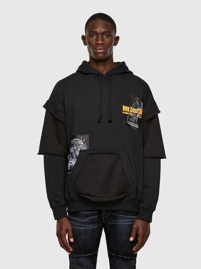 Diesel - S-UBBER, Black - Sweatshirts - Image 1