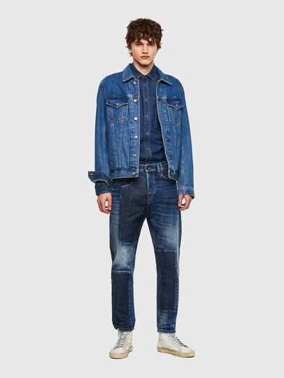 Diesel - D-Vider Carrot Jeans 009NJ, Medium Blue - Jeans - Image 6