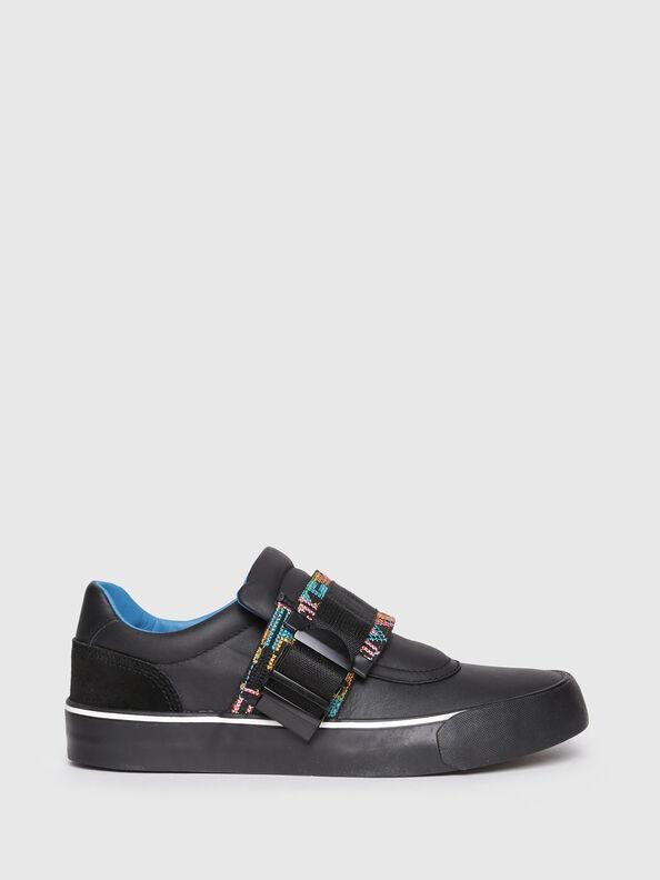 S-FLIP LOW BUCKLE W, Black - Sneakers