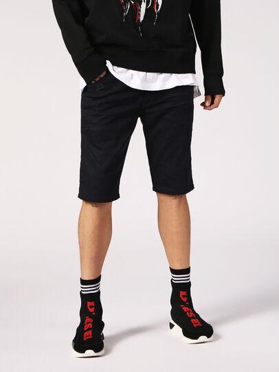 Diesel - KROOSHORT JOGGJEANS, Black Jeans - Shorts - Image 1