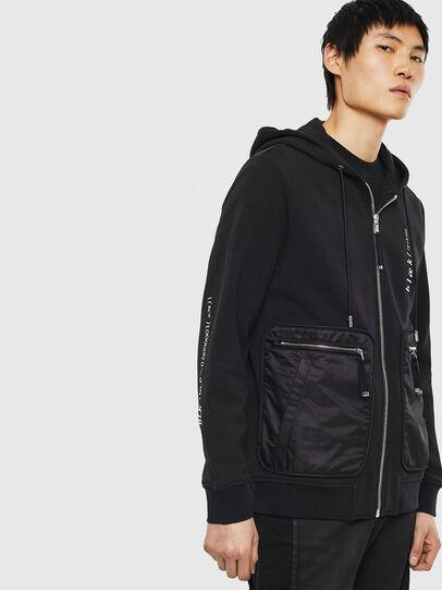 Diesel - S-SKRA, Black - Sweatshirts - Image 4