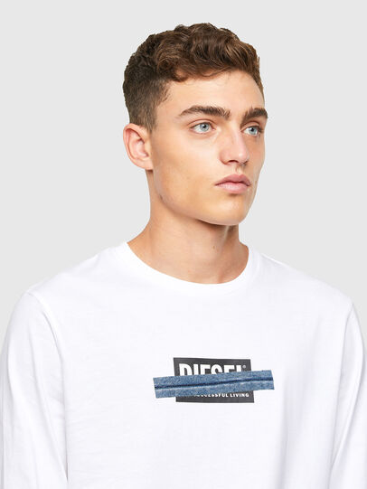 Diesel - T-JUST-LS-X41, White - T-Shirts - Image 3