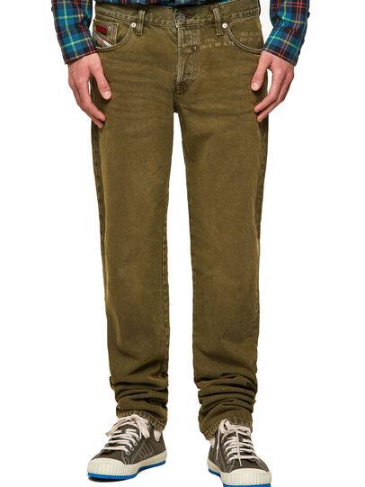 Diesel - D-Kras Slim Jeans 09A35, Military Green - Jeans - Image 1