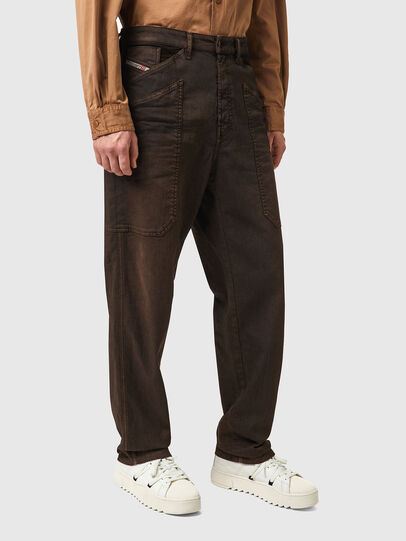 Diesel - D-Franky Straight Jeans 09B38, Brown - Jeans - Image 3