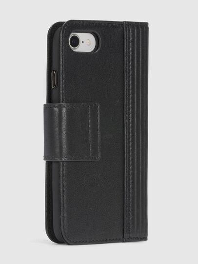 Diesel - BLACK LINED LEATHER IPHONE 8/7 FOLIO, Black - Flip covers - Image 6