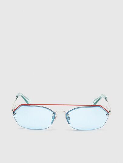 Diesel - DL0313, Blanco/Rojo - Gafas de sol - Image 1