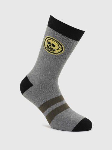Terry socks with skull graphic