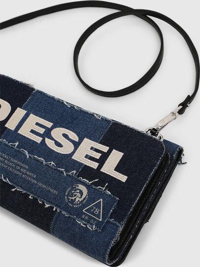 Diesel - DUPLET LCLT, Blue - Zip-Round Wallets - Image 6
