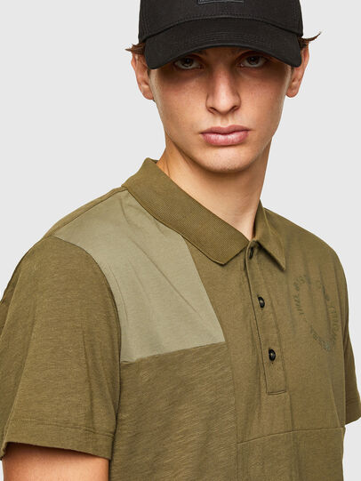 Diesel - T-POLWORK, Military Green - Polos - Image 3