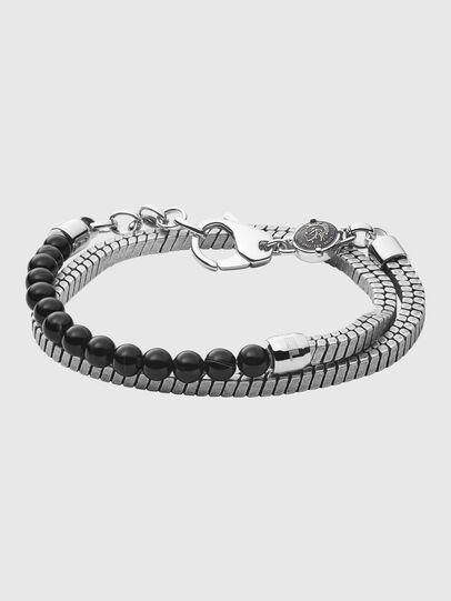 Diesel - DX1239, Silver/Black - Bracelets - Image 1
